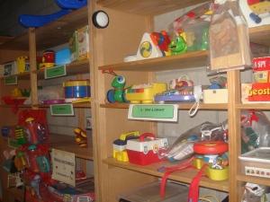 Baby toys shelves